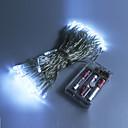 Χαμηλού Κόστους LED Φωτολωρίδες-10 ίντσες Φώτα σε Κορδόνι 80 LEDs Μικροδιακόπτες (Dip) LED Θερμό Λευκό / RGB / Άσπρο Αδιάβροχη 5 V / IP44