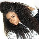 cheap Synthetic Lace Wigs-Synthetic Lace Front Wig Kinky Curly Layered Haircut 150% Density Synthetic Hair 26 inch Natural Hairline / African American Wig / For Black Women Brown / Natural Black Wig Women's Long Lace Front