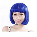 preiswerte Kostümperücke-Synthetische Perücken Glatt Bubikopf Synthetische Haare Blau Perücke Damen Kappenlos Blau
