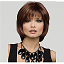 cheap Synthetic Capless Wigs-Synthetic Wig Straight Style Bob Capless Wig Brown Brown Synthetic Hair Women's Natural Hairline / Side Part Brown Wig Short / Medium Length Natural Wigs