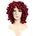 cheap Synthetic Capless Wigs-Synthetic Wig Body Wave Synthetic Hair Red Wig Women's Burgundy