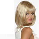 billige Trendy klokker-Syntetiske parykker Rett Blond Med lugg Syntetisk hår Side del Blond Parykk Dame Kort / Medium Lengde Lokkløs Blond