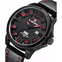 cheap Building Blocks-NAVIFORCE Men's Military Watch Quartz Calendar / date / day Leather Band Analog Casual Black / Khaki - Black / Red Black / White Rose Gold Two Years Battery Life / Stainless Steel / Maxell SR626SW