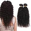baratos Extensões de Cabelo com Cor Natural-4 pacotes Cabelo Indiano Encaracolado / Kinky Curly Cabelo Virgem Cabelo Humano Ondulado 8-26 polegada Tramas de cabelo humano Venda imperdível Extensões de cabelo humano / Crespo Cacheado