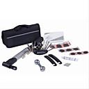 preiswerte Tire Repair Kits-Fahrradreifen Reparatur-Kits 15 in 1 bearbeitet Fahrradreparatursatz mit Beutel-Pumpe schwarz Set