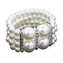 billige Mode Armbånd-Dame Perle Lyserød Wrap Armbånd - Imiteret Perle Damer, Mode Armbånd Smykker Hvid Til Bryllup Daglig Maskerade Forlovelsesfest Skolebal