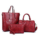cheap Bag Sets-Women's Bags PU Bag Set 3 Pcs Purse Set Zipper Red / Deep Blue / Light Blue