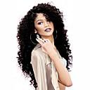abordables Tacones de Mujer-Pelucas sintéticas Rizado Corte a capas Pelo sintético Resistente al Calor / Entradas Naturales / Parte lateral Negro Peluca Mujer Larga Encaje Frontal Negro / Peluca afroamericana