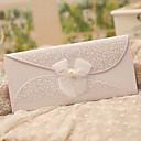 hesapli Düğün Davetiyeleri-Üç Katlanır Düğün Davetiyeleri Davet Kartları Klasik Stil Kelebek Stili Peri Masalı Teması İnci Kağıdı Kurdeleler