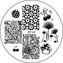 billige Neglestempling-Nail Art stempling Plate Stamper Skraber 6*6*0.1