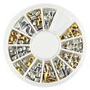 ieftine Veselă-1 paletă de diferite forme de argint aurit decorare unghii