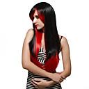 preiswerte Synthetische Perücken ohne Kappe-Synthetische Perücken Synthetische Haare Perücke Damen Lang Kappenlos Schwarz / Rot