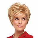 preiswerte Camping-Tools, Karabiner & Leinen-Synthetische Perücken Damen Glatt / Natürlich gewellt Blond Asymmetrischer Haarschnitt Synthetische Haare Natürlicher Haaransatz Blond Perücke Kurz Kappenlos Blondine