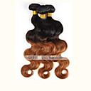 povoljno Perike s ljudskom kosom-3 paketa Brazilska kosa Tijelo Wave Ombre Isprepliće ljudske kose Proširenja ljudske kose / 8A