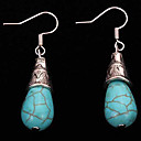 cheap Earrings-Women's Turquoise - Silver Plated Drop Vintage, Bohemian Blue For Casual