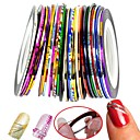 billige Negleklistremerker-30 pcs Nail Foil Striping Tape Neglekunst Manikyr pedikyr Klassisk Daglig / Folie Stripping Tape