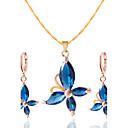 baratos Conjuntos de Bijuteria-Mulheres Conjunto de jóias - Incluir Colar / Brincos Preto / Vermelho / Azul Para Casamento Festa Diário / Casual