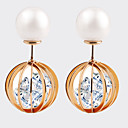 cheap Security Accessories-Women's Crystal Stud Earrings - Pearl, Zircon, Cubic Zirconia Candy Vintage, European, Fashion Gold For Wedding / Party / Daily / Gold Plated / Casual