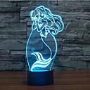 abordables Lámparas de Noche-toque atenuación 3d llevó la luz de la noche 7colorful decoración atmósfera lámpara novedad luz de iluminación