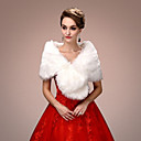 cheap Wedding Wraps-Sleeveless Faux Fur Wedding / Party Evening Women's Wrap With Draping Capelets