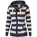 cheap Men's Athletic Shoes-Women's Basic Hoodie - Striped Blue & White Navy Blue M / Fall