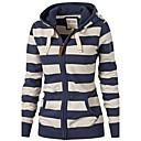 billige Armbåndsur-Dame Grunnleggende Bukser - Stripet BLå & Hvit Navyblå / Høst