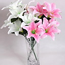 cheap Artificial Flower-Artificial Flowers 10 Branch Modern Style Lilies Tabletop Flower