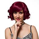 preiswerte Synthetische halbe Perücken-Synthetische Perücken Synthetische Haare Rot Perücke Damen Kurz Kappenlos