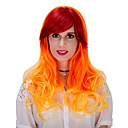 זול נעליי בית-פאות סינתטיות / פאות לתחפושות Ombre שיער סינטטי Ombre פאה בגדי ריקוד נשים ארוך ללא מכסה