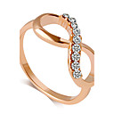cheap Rings-Women's Band Ring - Princess Classic, Fashion 6 / 7 / 8 / 9 Golden For Wedding Party Party / Evening / Daily / Casual