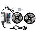 cheap LED Strip Lights-ZDM 2x5M 5050 RGB LED Strip Light 30 LEDs/Meters 44Key IR Controller 12V 6A Power Supply with 4PCS Connecting line Soft Light Strip Kit