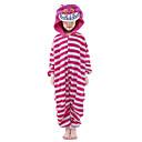 cheap Kigurumi Pajamas-Kid's Kigurumi Pajamas Cat Onesie Pajamas Velvet Mink Pink Cosplay For Boys and Girls Animal Sleepwear Cartoon Festival / Holiday Costumes