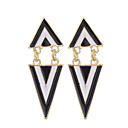 cheap Earrings-Women's Drop Earrings - Gold Plated Vintage, European, Fashion White / Black For Wedding / Party / Daily / Casual