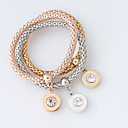cheap Party Gloves-Women's Wrap Bracelet - Fashion Bracelet Silver / Golden / Rose Gold For Wedding