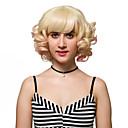 billige Syntetiske parykker uden hætte-Syntetiske parykker Blond Syntetisk hår Blond Paryk Dame Kort Lågløs