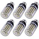 billige LED-lyspærer-YouOKLight 6pcs 10W 800-850lm E14 E26 / E27 E12 LED-kornpærer T 100 LED perler SMD 5736 Dekorativ Varm hvit Kjølig hvit 85-265V 110-130V