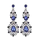 abordables Pendientes-Mujer Cristal Pendientes colgantes - Chapado en Oro Vintage, Moda Blanco / Azul Para Boda / Fiesta / Diario / Casual