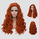 cheap Synthetic Capless Wigs-Synthetic Wig With Bangs Synthetic Hair Red Wig Women's Long Capless