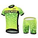 tanie Skarpety rowerowe-Malciklo Męskie Krótki rękaw Koszulka z szortami na rower Rower Zestawy odzieży, Wkładka 3D, Szybkie wysychanie, Oddychający Coolmax®, Lycra Bańka / Wysoka elastyczność