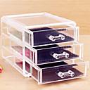 hesapli Kozmetik Kutuları ve Çantaları-1 pcs Cosmetics Storage 3.Katman / çıkarılabilir Drawears Makyaj Arkilik / Plastik Klasik Günlük Kozmetik Tımar Malzemeleri