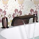 billige Oliemalerier-olie gnides bronze vandfald håndvasken vandhane