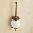 hesapli Banyo Rafları-Tuvalet Fırçası Tutacağı Antik Pirinç 1 parça - Otel banyo