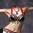 cheap Belly Dance Wear-Belly Dance Tops Women's Performance Cotton / Polyester / Metal Buttons / Coin Sleeveless Dropped Bra