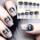billige Heldækkende negleklistermærker-1 Neglekunst Klistermærke Vandoverførende decals Makeup Kosmetik Neglekunst Design