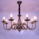 baratos Lustres-8-luz Lustres Luz Ambiente Outros Metal Estilo Vela 110-120V / 220-240V Lâmpada Não Incluída / E12 / E14