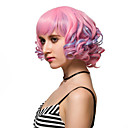 cheap Latin Dance Wear-Synthetic Wig Synthetic Hair Pink Wig Women's Short Capless