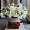 abordables Fleur artificielles-Fleurs artificielles 1 Une succursale Style moderne Pivoines Fleur de Table