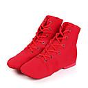 baratos Dance Boots-Mulheres Sapatos de Jazz / Botas de Dança Lona Botas / Têni Salto Baixo Personalizável Sapatos de Dança Branco / Preto / Vermelho
