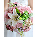 "cheap Wedding Flowers-Wedding Flowers Bouquets Wedding Party / Evening Dried Flower Polyester Satin 11.8""(Approx.30cm)"