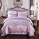 preiswerte Einbauleuchten-Bettbezug-Sets Geometrisch 4 Stück Seide/Baumwolle Jacquard Seide/Baumwolle 1 Stk. Bettdeckenbezug 2 Stk. Kissenbezüge 1 Stk. Betttuch